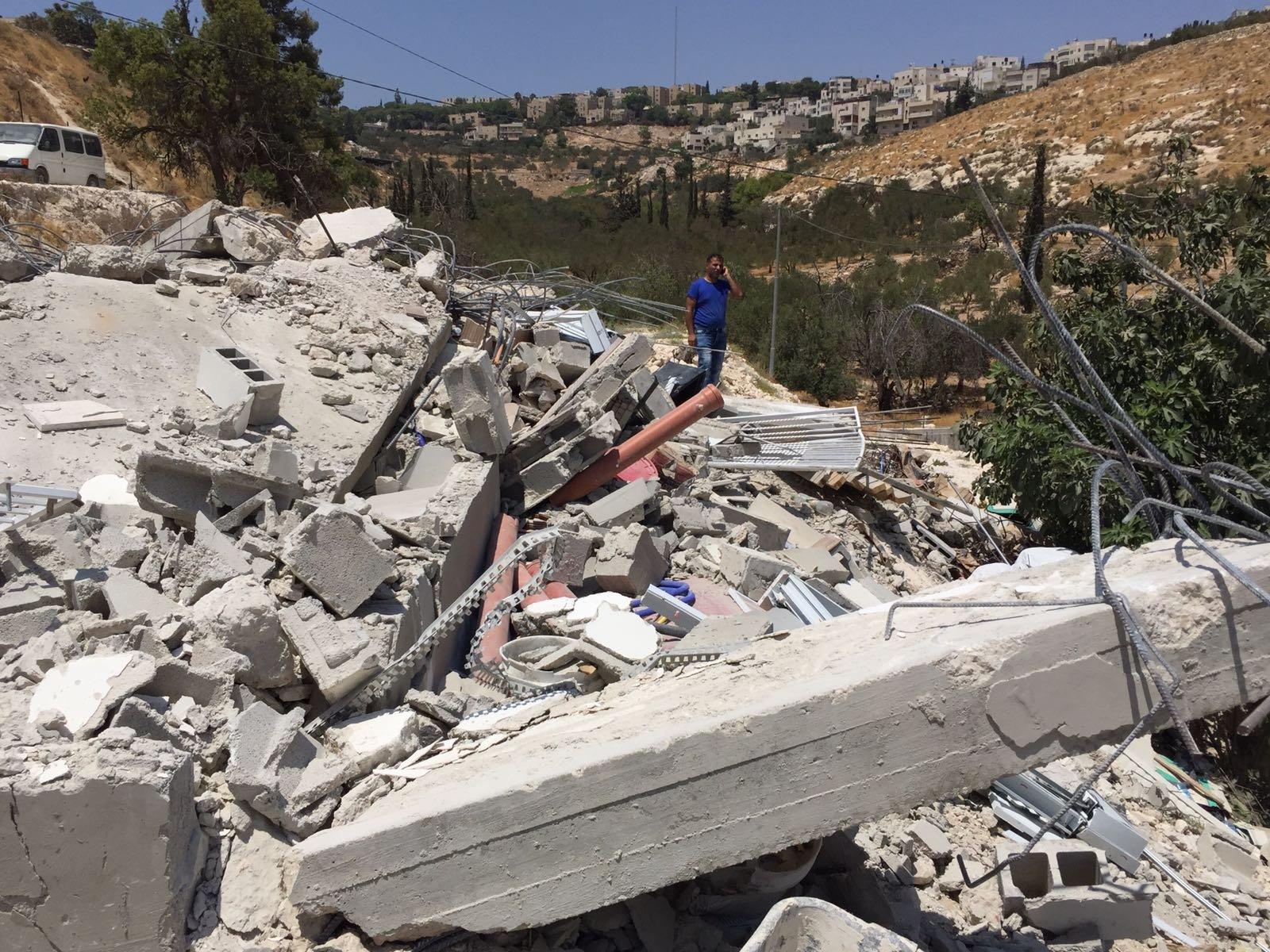 هدم منشآت ومنازل في القدس