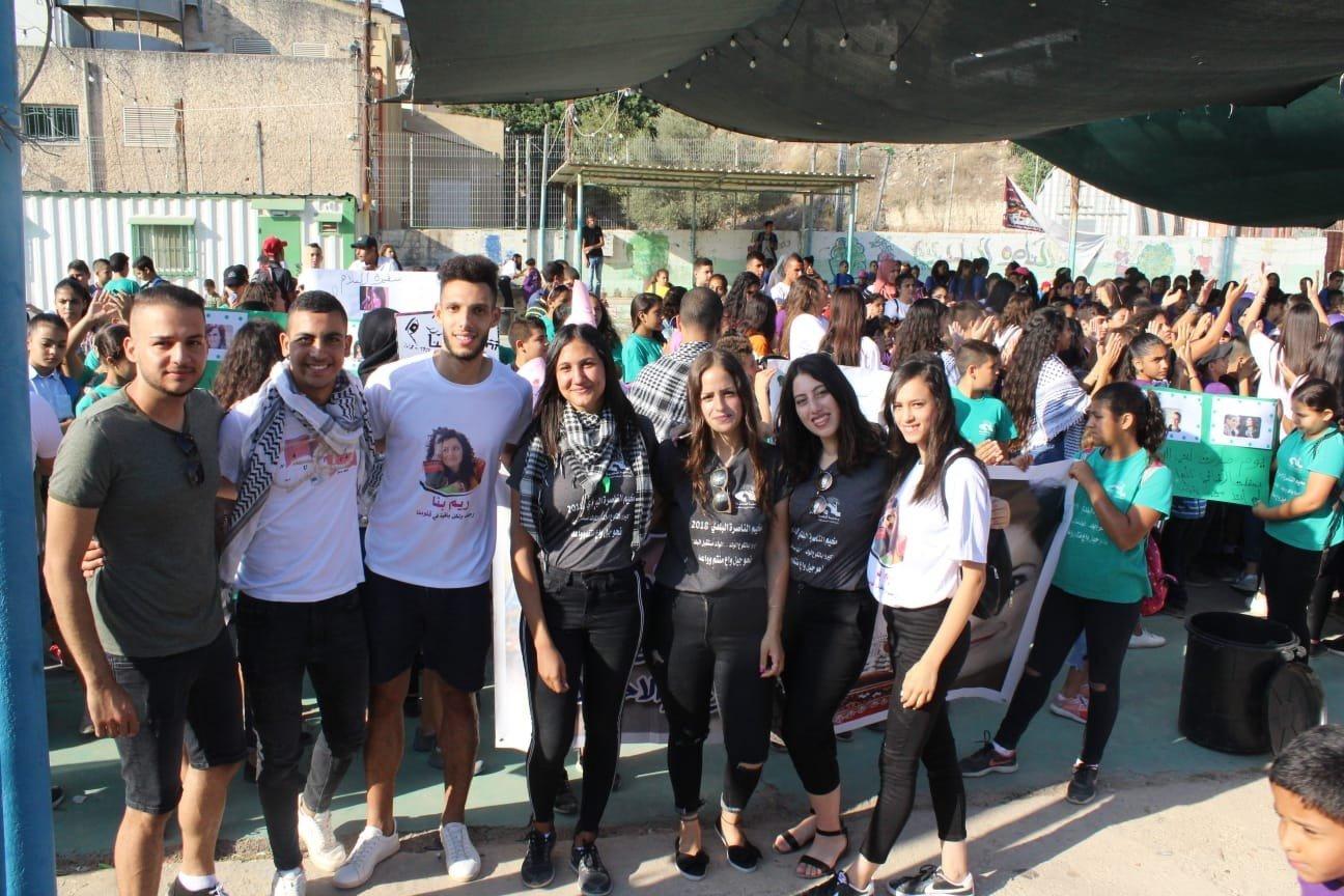 ريم بنا على اجندة مخيم الناصرة البلدي
