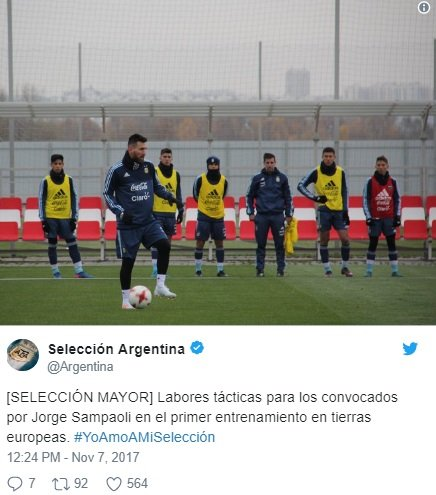 ميسي يشارك في تدريبات الأرجنتين في موسكو