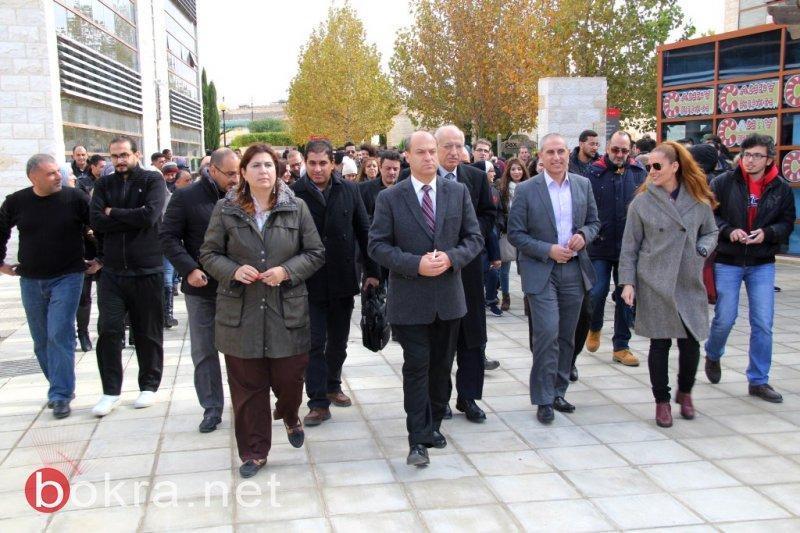 الجامعة الأميركية في مادبا تقيم مسيرة صامتة تضامناً مع القدس