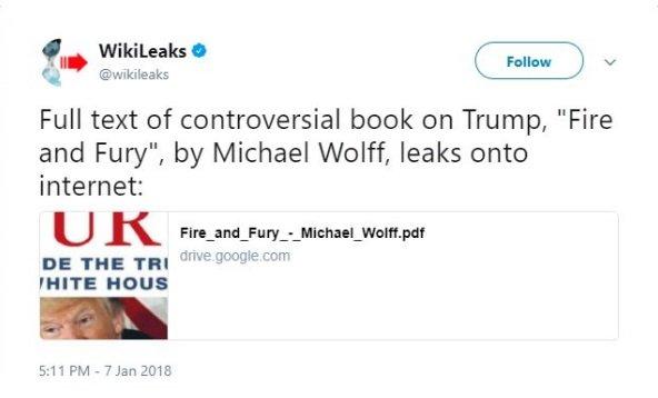 ويكيليكس تقرصن كتاب ترامب.. وغوغل ترد