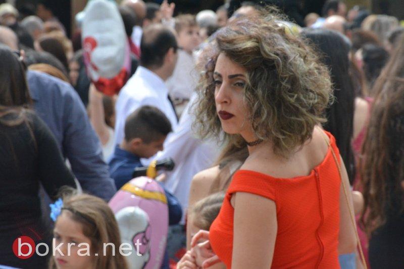 احتفالات الشعانين في الناصرة .. اجواء مميزة بكنيسة الروم الأورثوذكس