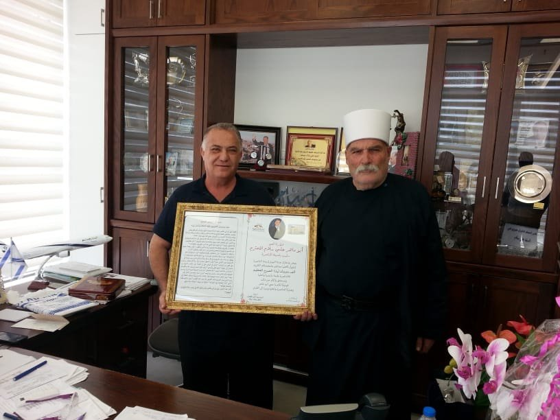 الناصرة: الشيخ ابو وسيم كنعان يهنئ بدار البلدية