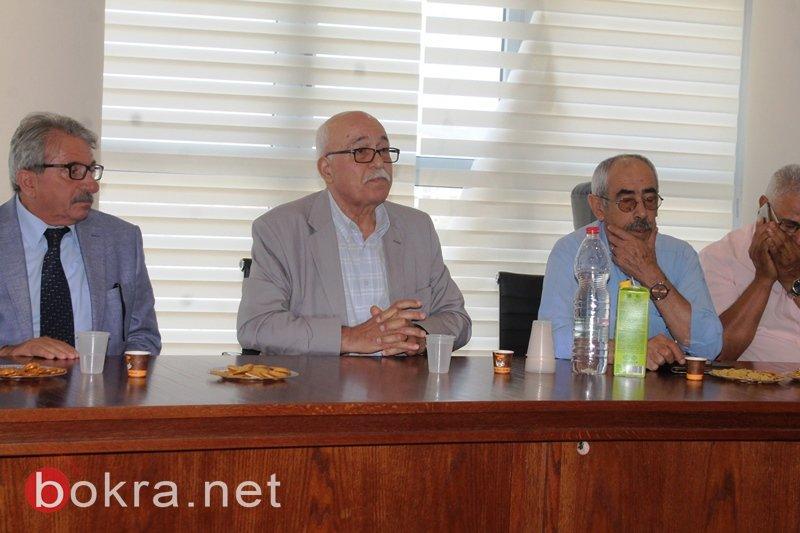وفد من السلطة الفلسطينية يزور سخنين ويحمل رسالة تهنئة من محمود عباس