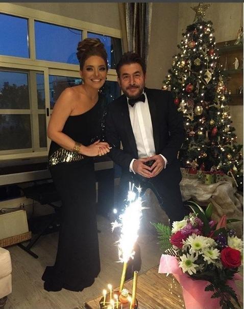 عابد فهد وزينة يازجي يحتفلان بعيد زواجهما