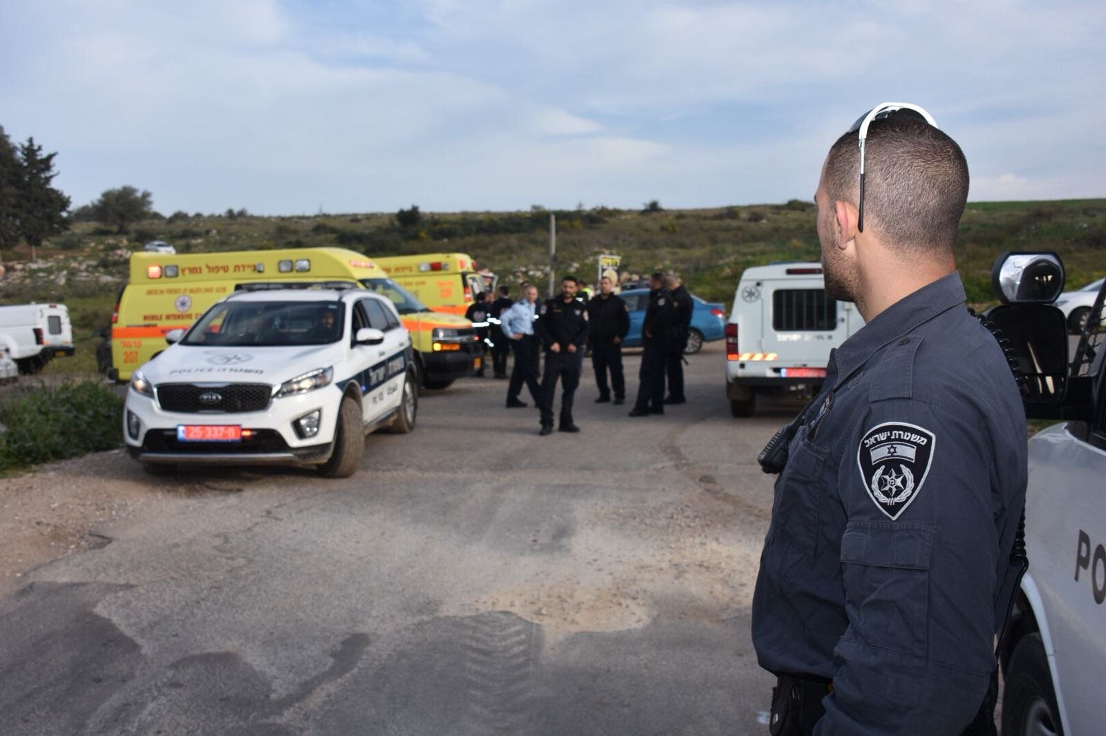 الشرطة تغلق الطرق المؤدية الى كيبوتس هاردوف مكان سقوط الطائرة