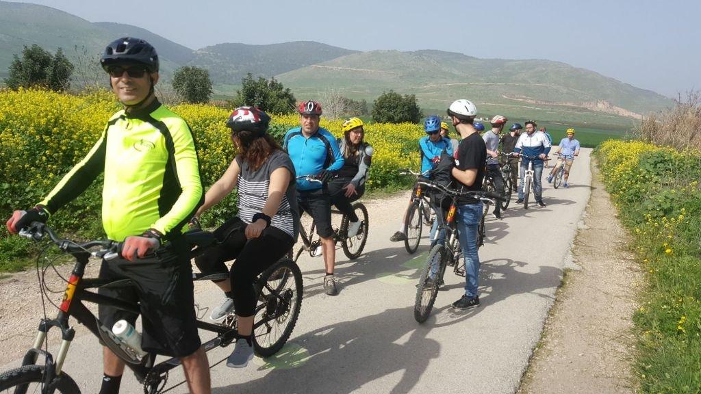لأول مرة في المجتمع العربية رياضة الدراجات المزدوجة بمبادرة جمعية المنارة