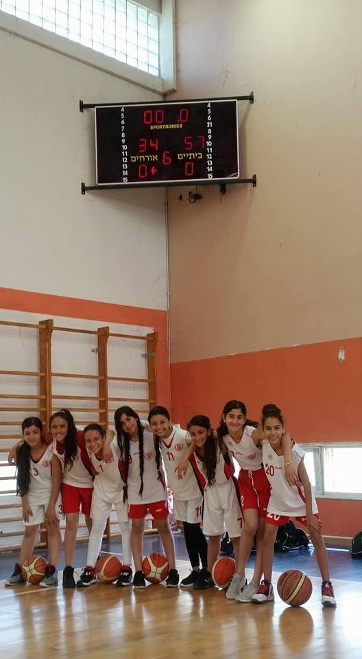 فخر كبير .. فريق كرة السلة المصغرة للبنات من المقيبلة يفوز ببطولة منطقة الجلبوع