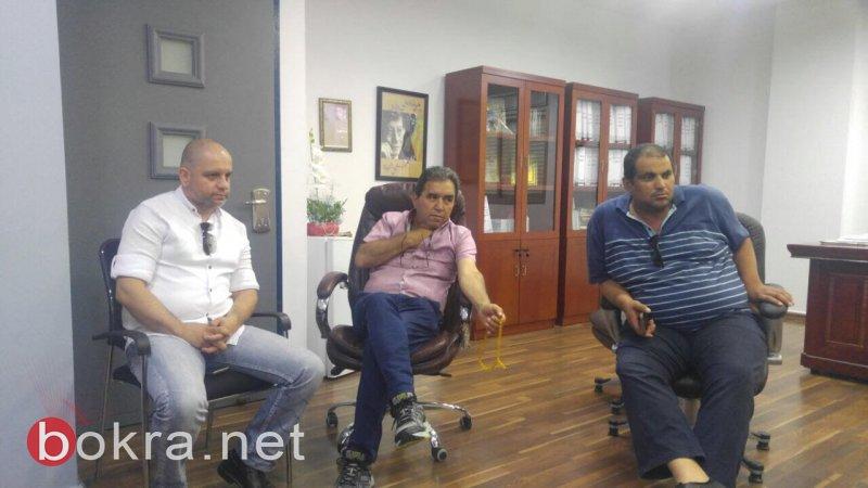 اللجنة الشعبية لمناهضة مياه الشرب غير الصالحة في البعنة تلتقي أبو ريا وتنقل له قراراتها التصعيدية
