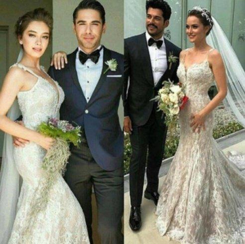 رد فعل نسليهان أتاغول على مقارنة فستان زفافها بفستان زفاف فهرية