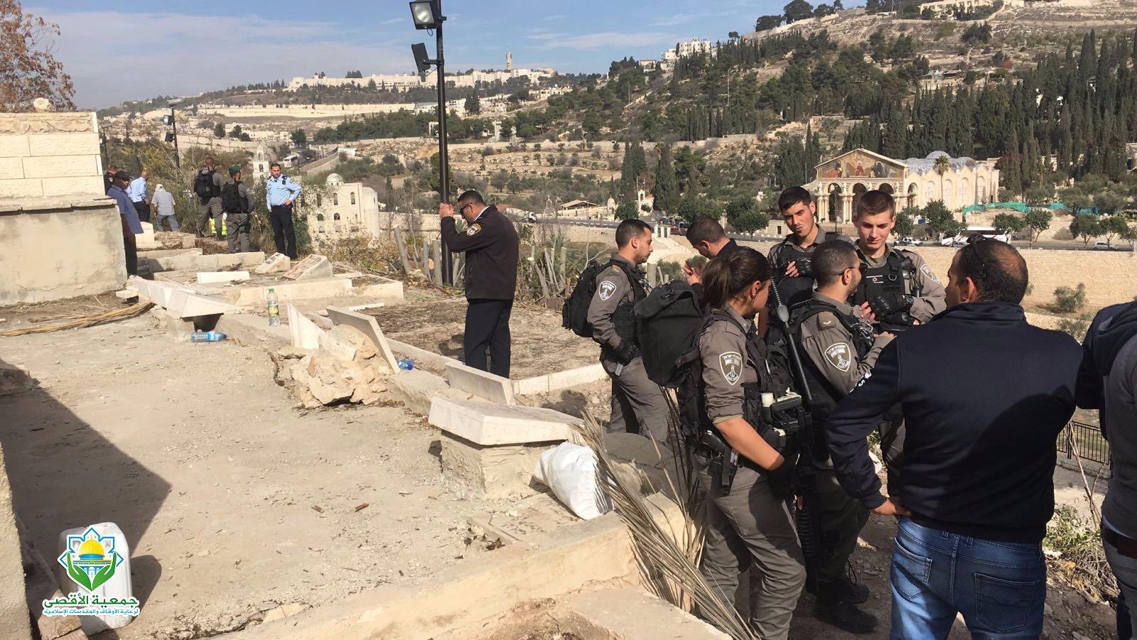 الشرطة الاسرائيلية تقتحم مقبرة باب الرحمة