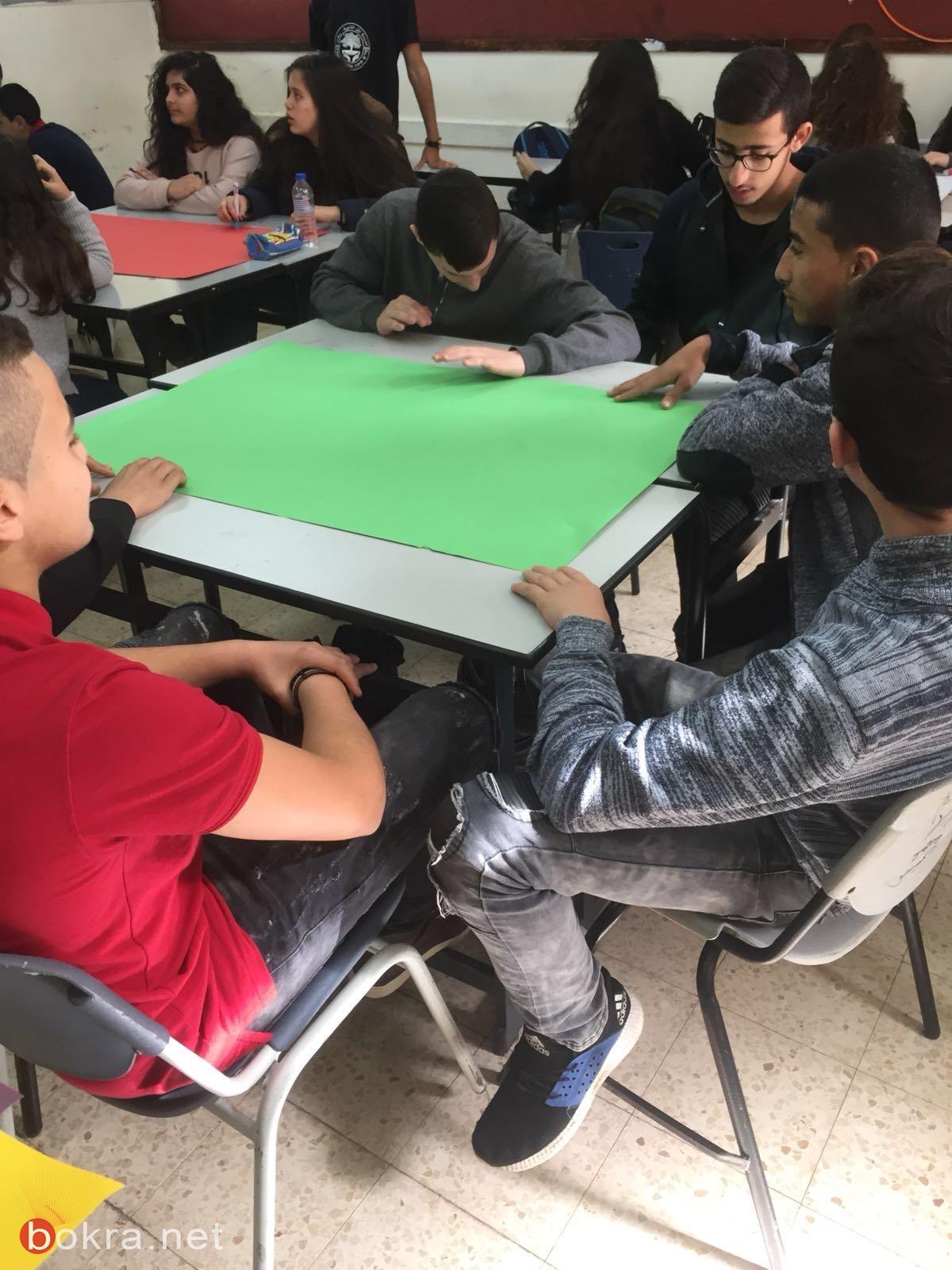 سخنين:مدرسة المل الثانوية -فعّاليّات توعويّة عن التّدخين وأضراره