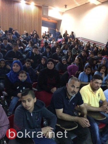 مدرسة عاطف خطيب الاعدادية في شفاعمرو توزع شهادات التفوق والامتياز على الطلاب