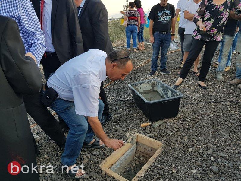 وضع حجر الأساس لمشروع السلال الكهربائية من نتسيريت عيليت لجبل طابور