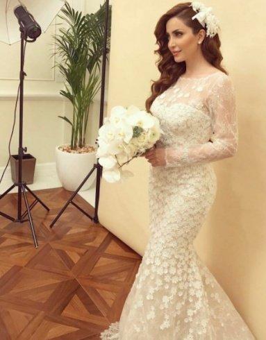 نسرين طافش بفستان الزفاف، هل تزوجت فعلاً؟!