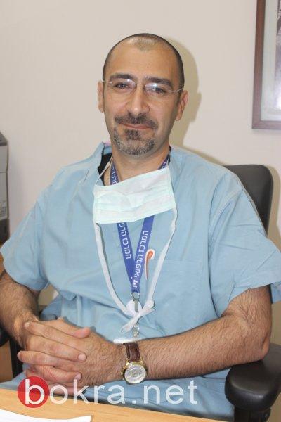 الممرض جنان نخلة مسؤول غرفة العمليات في مستشفى صفد : نشجع بمرافق بالعمليات القيصرية