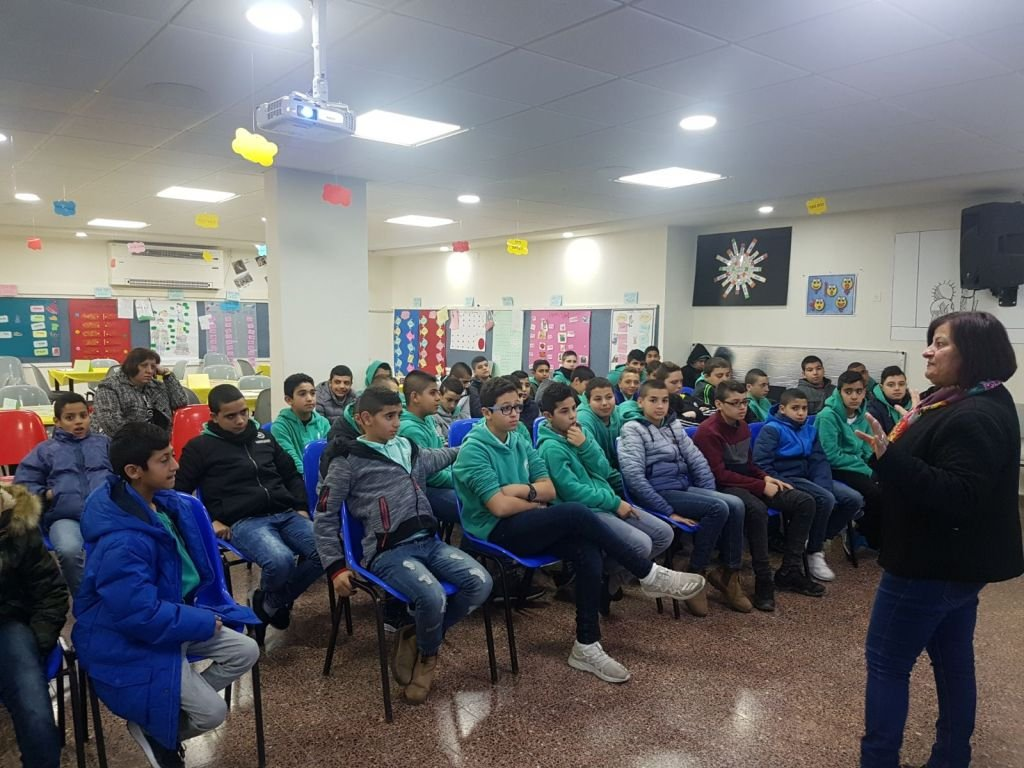محاضرة عن جيل المراهقة في المدرسة الإعدادية الحديقة (أ) يافة الناصرة
