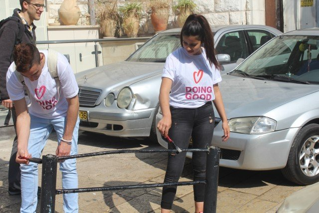 انطلاق يوم الاعمال الخيرية في الناصرة بمشاركة واسعة