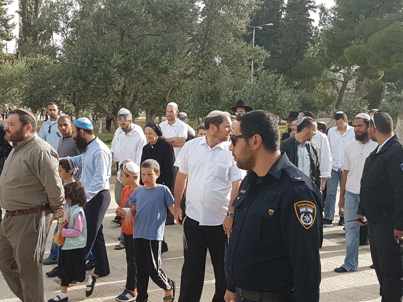 252 مستوطنا يقحمون باحات المسجد الاقصى
