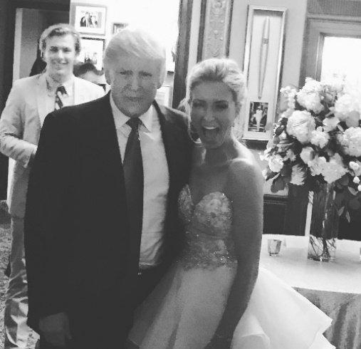 ترامب يقتحم حفل زفاف ويفاجئ العروسين