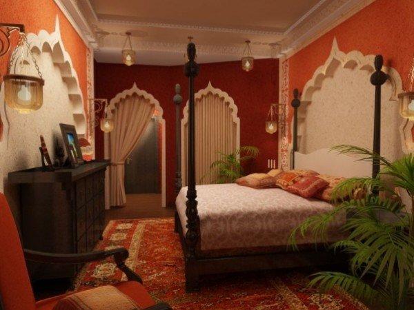 صور: تصاميم غرف نوم على الطراز الهندي