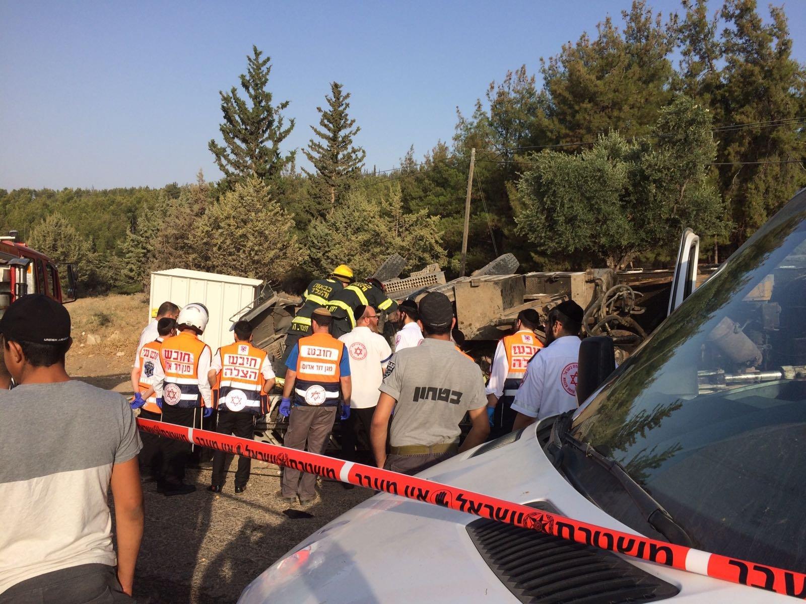 إصابة خطيرة لسائق شاحنة على مدخل عكبرة قرب صفد