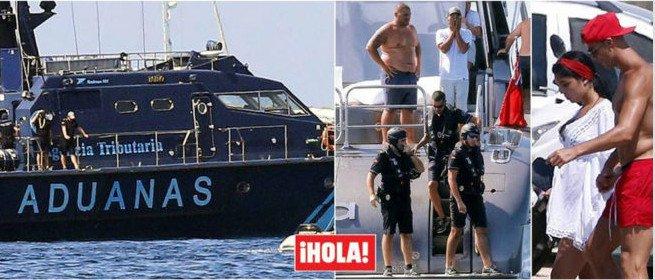 بالصور: السلطات الاسبانية تداهم رونالدو في يخته