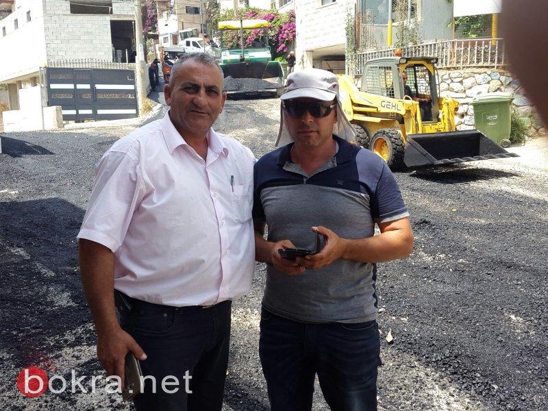 ام الفحم - غدا الجمعة: اكمال تعبيد مقطع الشارع الموصل بين الشاغور – عين المغارة
