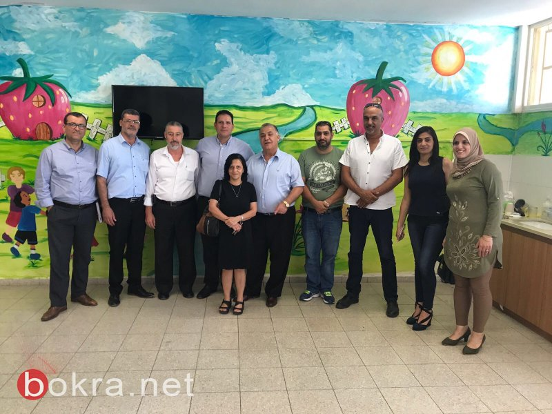 رئيس بلدية الناصرة وطاقم الجهاز التربوي يتفقدون مدرسة الكروم ومدرسة المجد