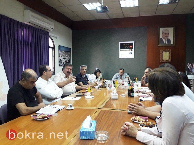 لجنة المعارف في بلدية الناصرة تلتئم لمناقشة امور هامة