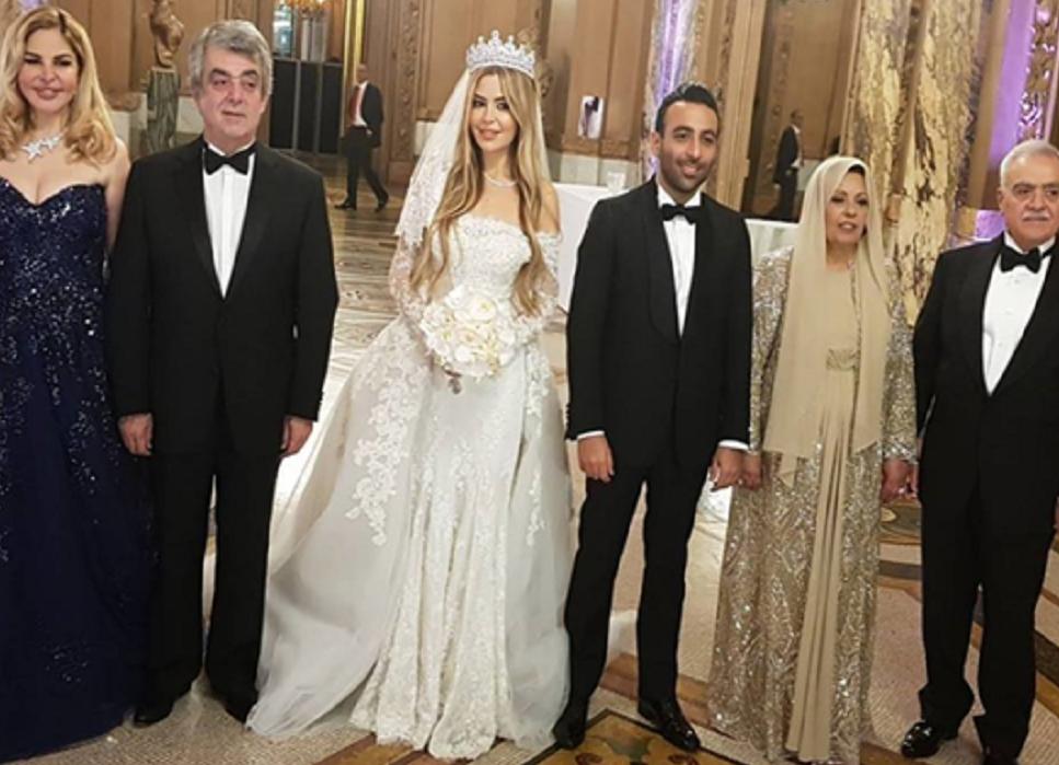 حفل زفاف أسطوري لحفيدة عبدالحليم خدام في باريس