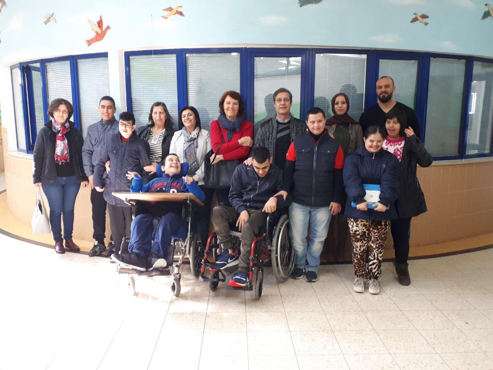 مدرسة ذوي الاحتياجات الخاصة الاب اوغو تزور مؤسسة ماعس بالناصرة