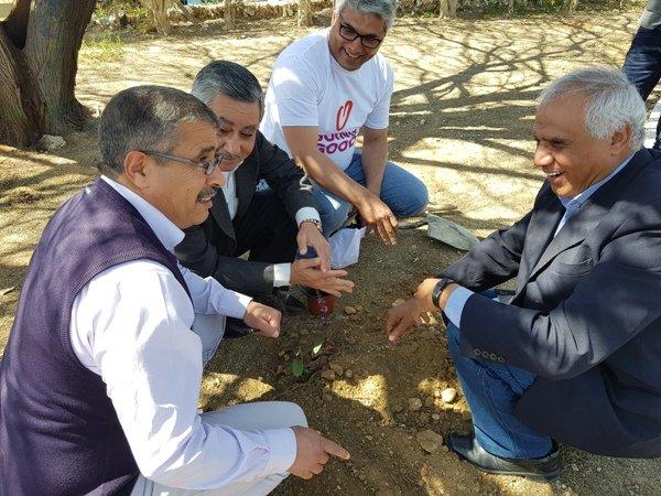 يوم الأعمال الخيرية في رهط .. تميّز لعمل هيئة المياة بترميم الحديقة