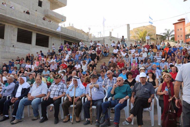 الحياة المشتركة في الجلبوع : مهرجان تضامني ضخم في الناعورة