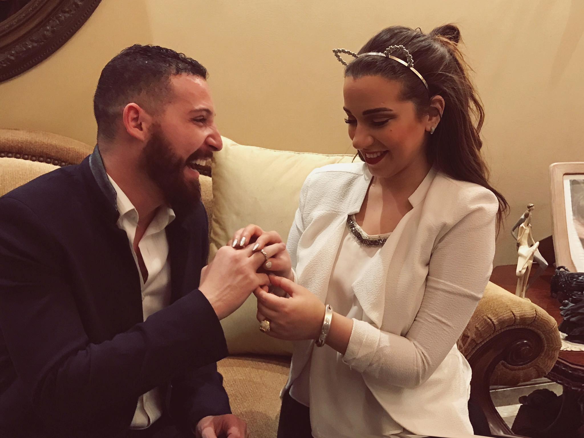خطوبة ابنة الفنان شريف منير ومفاجأة من العريس
