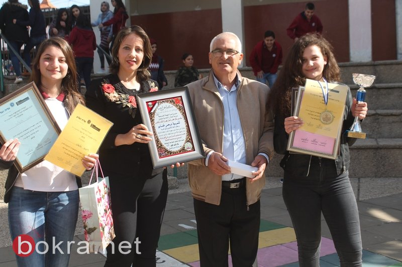 سخنين تُكرم طالبة مدرسة الحلان، بطلة إسرائيل بفن الخطابة باللغة الانجليزيّة