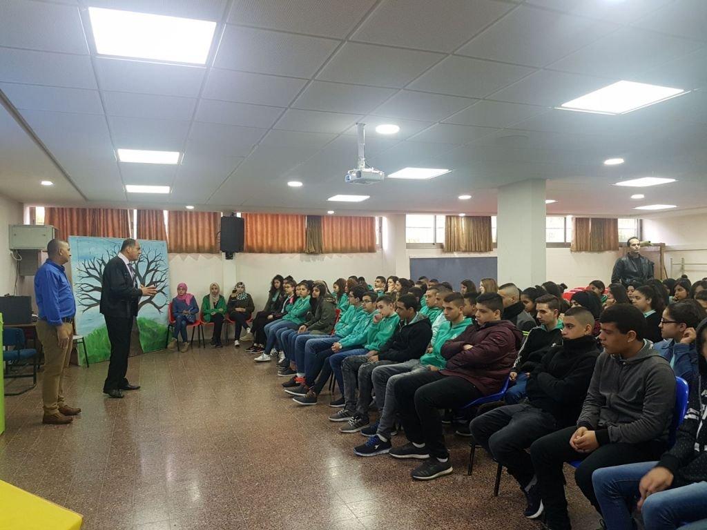 محاضرات توعوية في المدرسة الإعدادية الحديقة (أ) يافة الناصرة