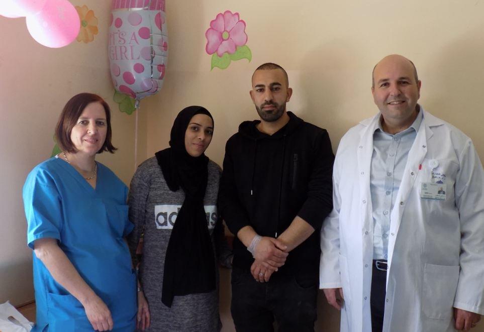 حاتم وزينب نصّار من طرعان يرزقان بثلاثيّة في مستشفى الناصرة- الانجليزي