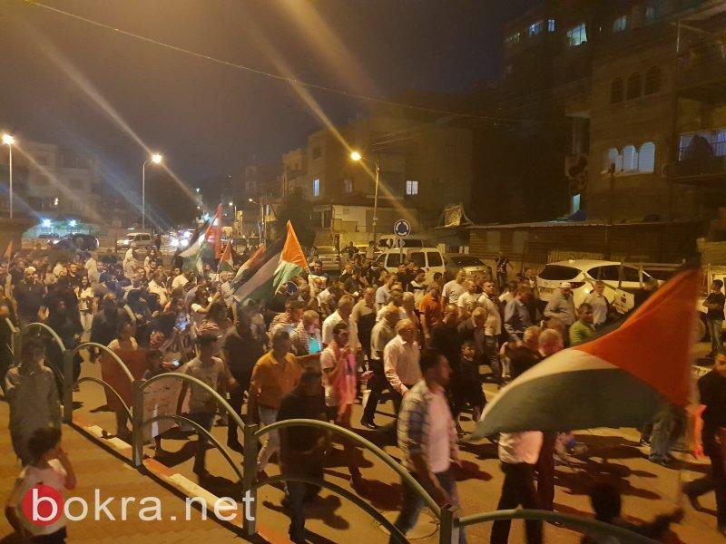 شعب: المئات يهتفون نصرة لغزة منددين بمجزرة الجيش