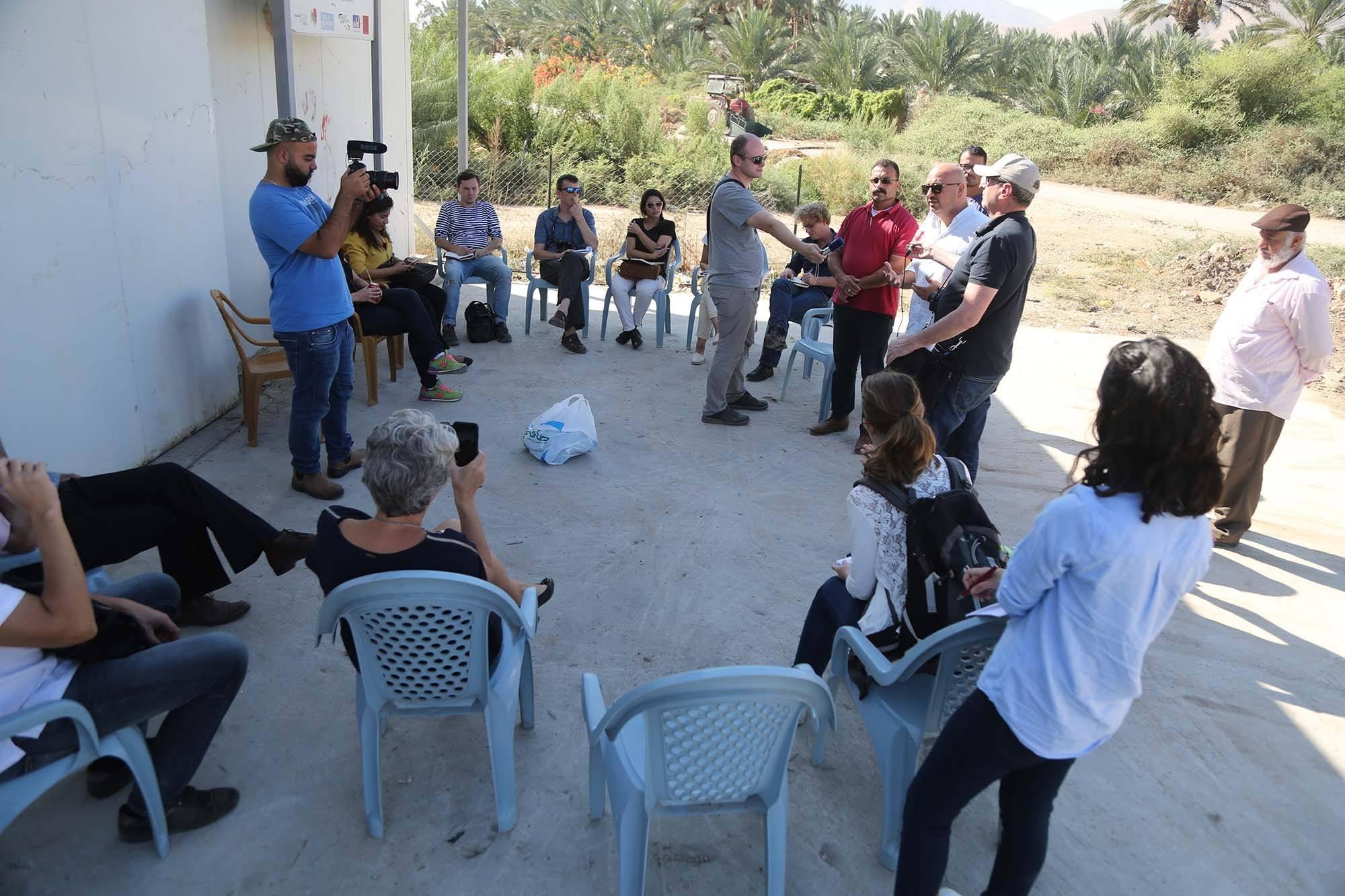 الاتحاد الأوروبي ينهي جولة لصحفيين أوروبيين في الضفة الغربية