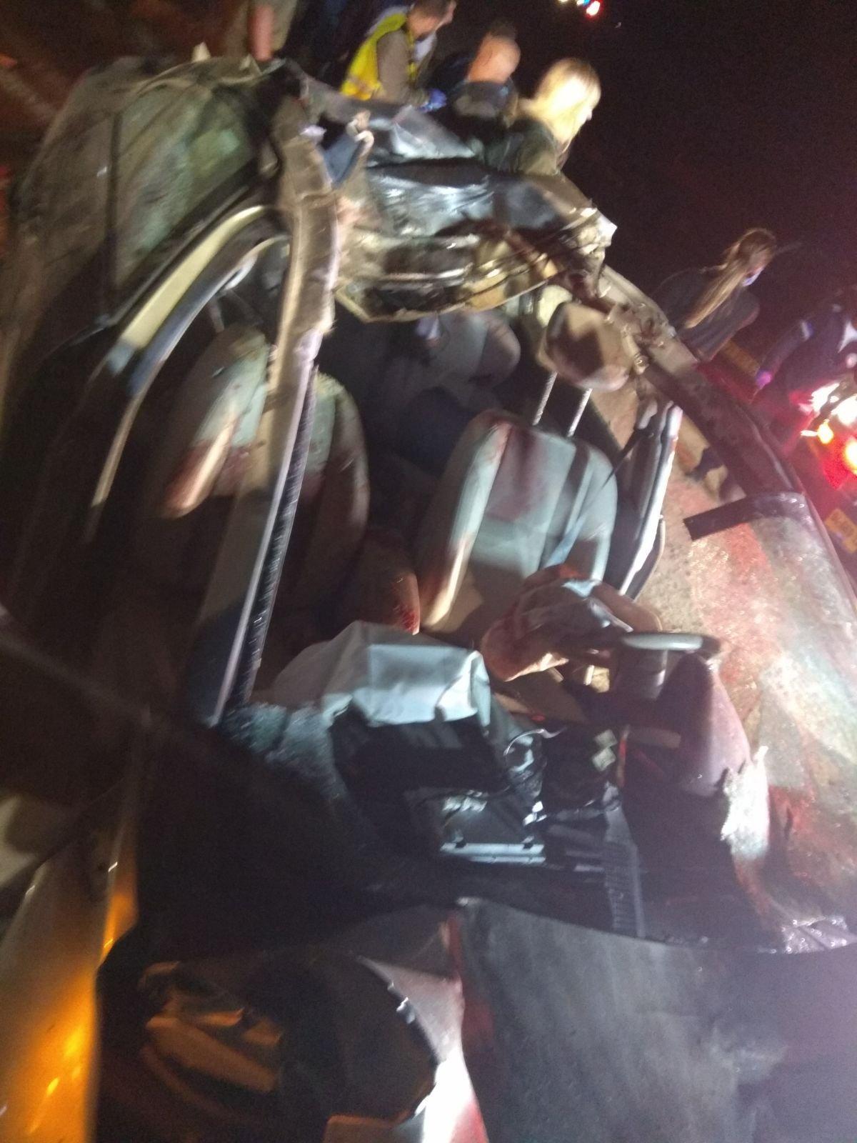 مصرع طفل وإصابة 4 أشخاص بحادث اصطدام سيارة بجمل قرب سجن نفحة بالنقب!