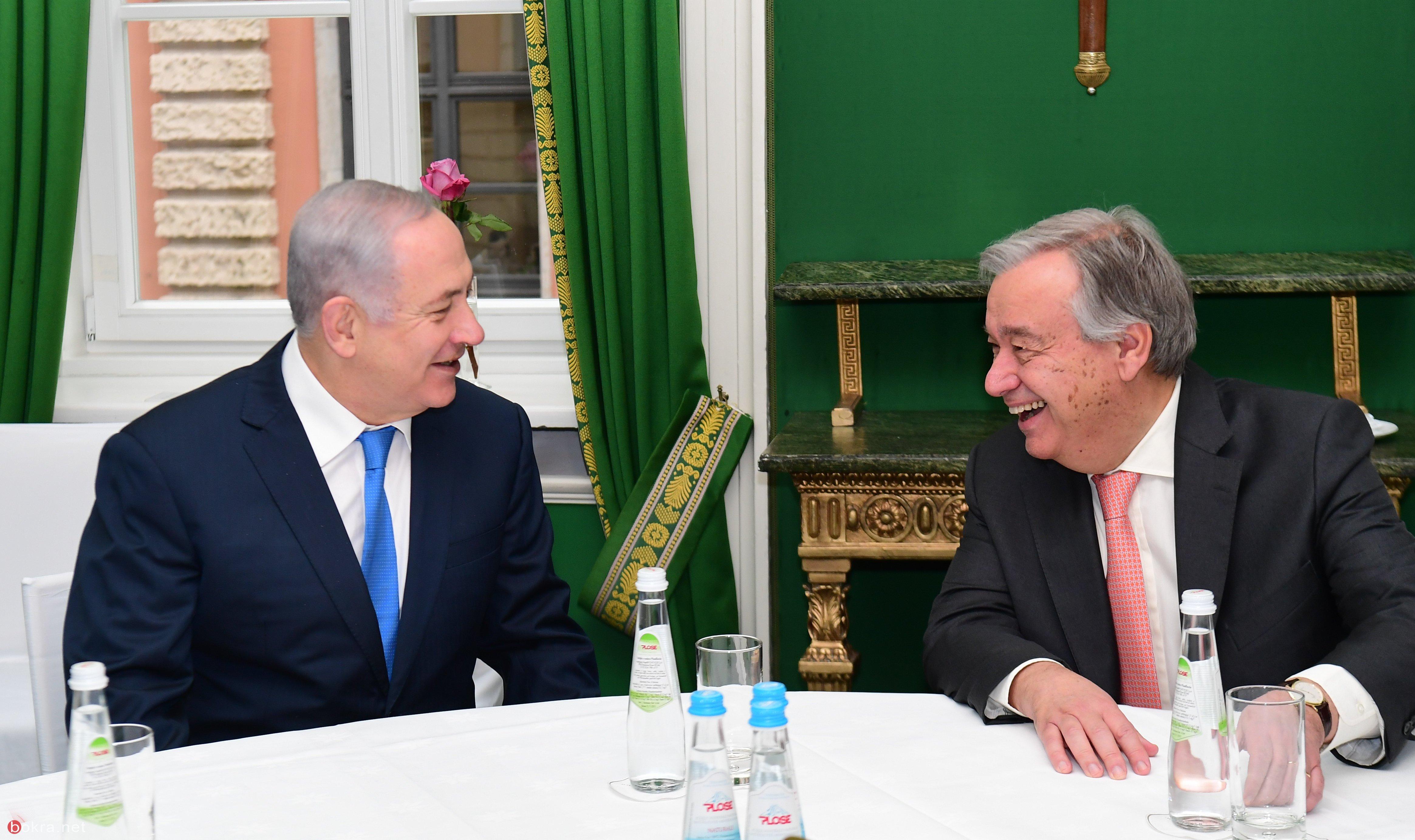 نتنياهو لأمين عام الامم المتحدة : الجولان اسرائيلية للأبد