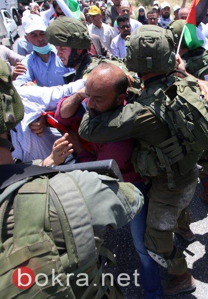 مواجهات خلال مسيرة تضامنية مع الأسرى غرب نابلس