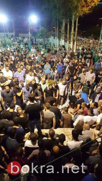 أبو سنان الحزينة تشيّع الطالبين نزار درويش ورشاد بريق
