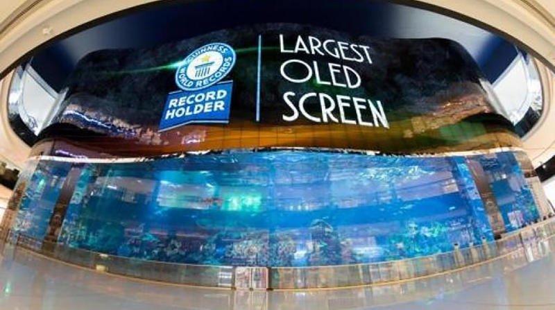 دبي تدخل غينيس عبر أكبر شاشة تلفاز