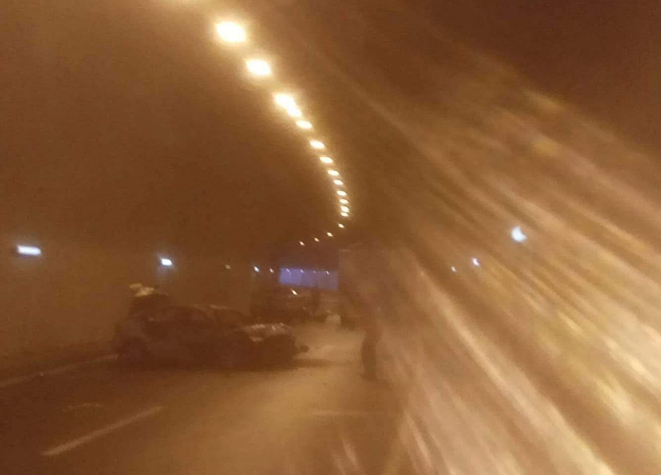 حادث طرق واشتعال سيارة على شارع النفق الناصرة- اكسال