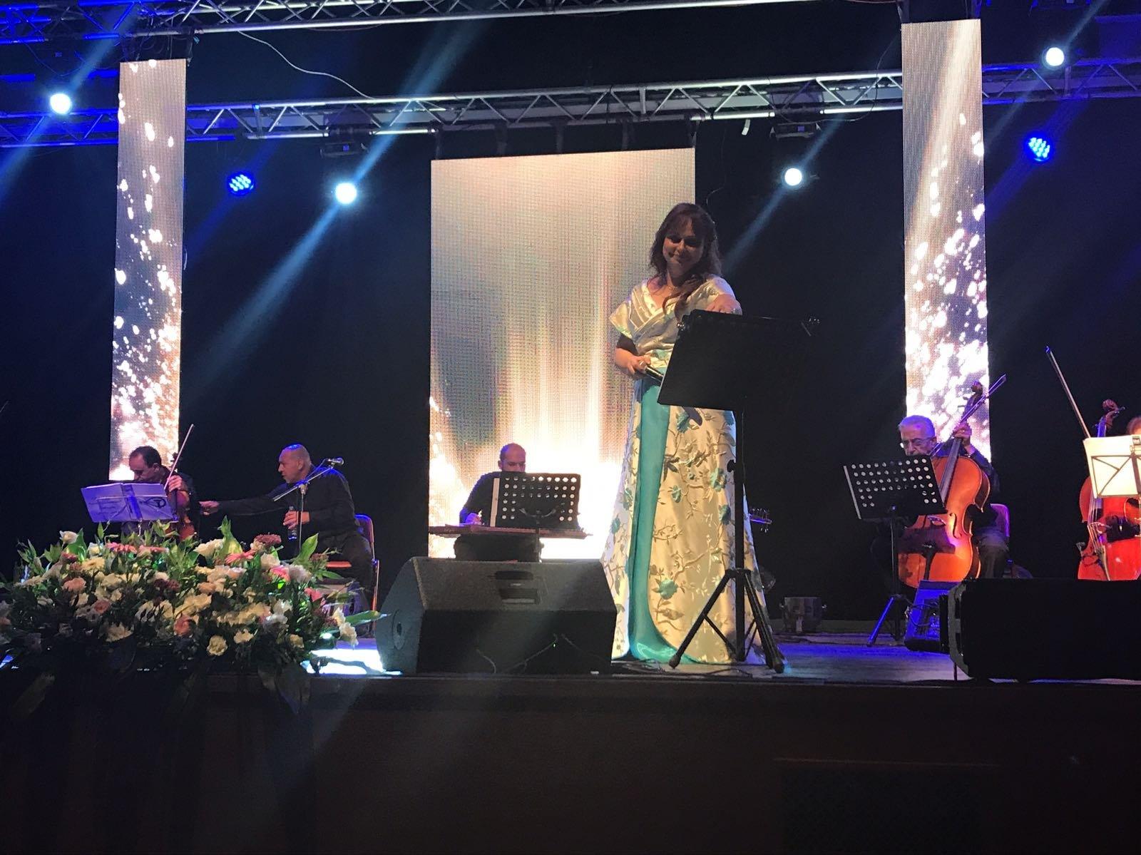 جورجيت نوفي تتألق في حفل غنائي بالناصرة