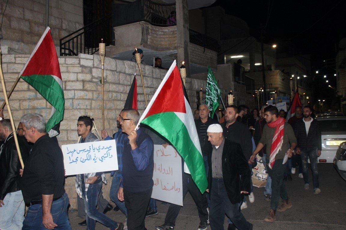 البعنة: مسيرة مشاعل نصرة للقدس