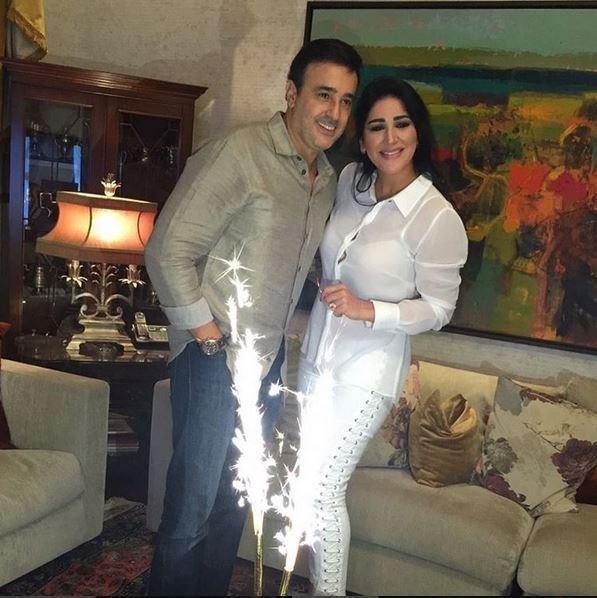صابر الرباعي وزوجته إخلاص يحتفلان بعيد ابنهما جود
