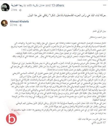 تبادل اتهامات وتخوين بعد تصريح رجا اغبارية حول الأديب إميل حبيبي